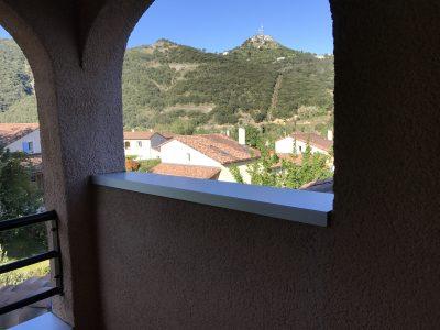 Uitzicht balkon Sampzon